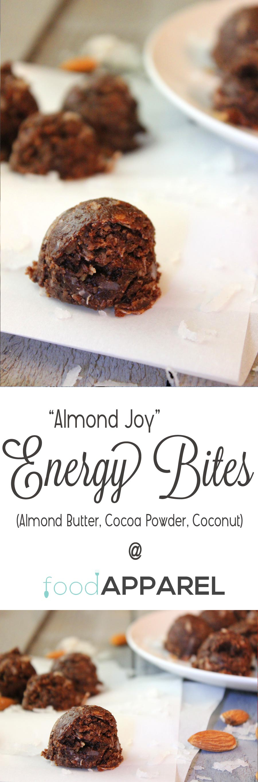 Healthy Almond Joy Energy Bites! Perfectly chocolatey snack, with no guilt