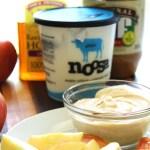 Peanut Butter and Honey Greek Yogurt Dip. 3 Ingredients. Simple. Healthy!