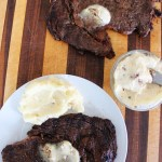 Jones Creek Beef Ribeye Steak with Garlic Truffle Butter