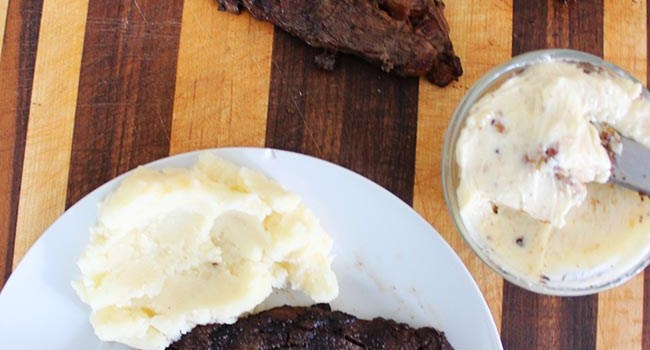Jones Creek Beef Grilled Ribeye Steak with Garlic Truffle Butter Recipe