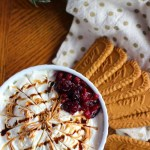 No Bake Cheesecake Dip - even lovelier with cookie spread butter and balsamic drizzle!