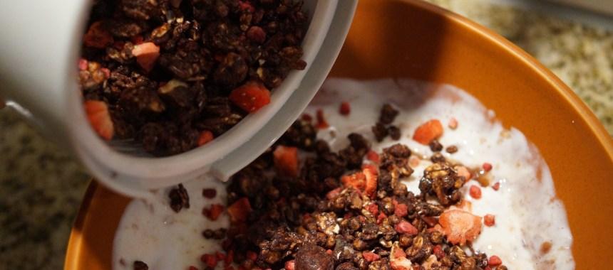 Granola med masser af proteiner og fibre