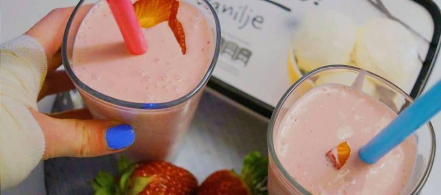 Milkshake med jordbær – sukkerfri
