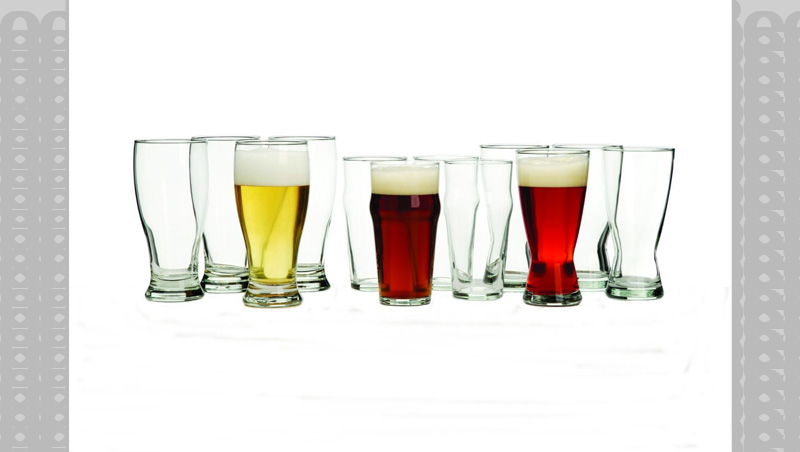 Drink your beer as intended with the 12 piece set of international beer glass designs