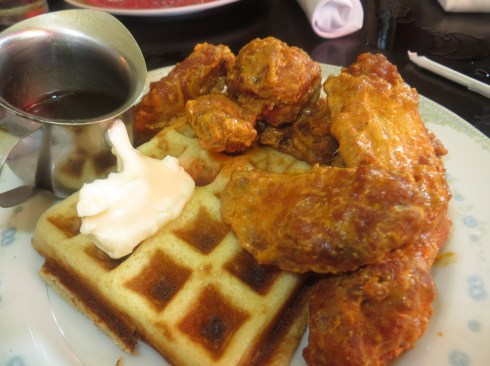 Korean Fried Chicken and Waffles at Talde