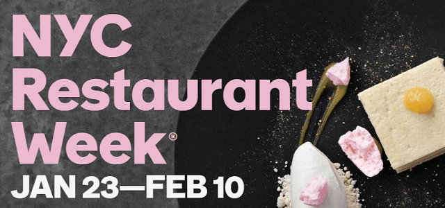 NYC Restaurant Week Winter 2017