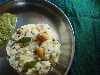 Ven Pongal with Coriander chutney