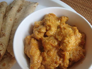 spicy ground coconut chicken curry,chicken curry