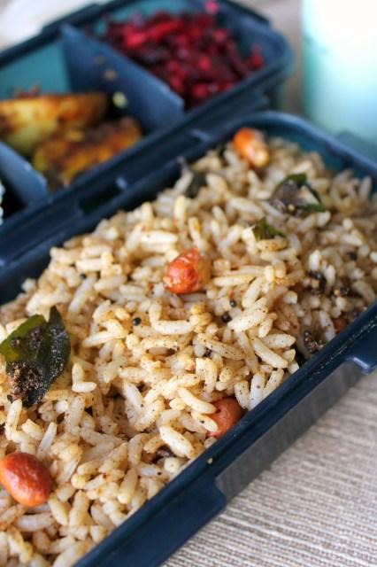 milagu rice, variety rice, lunch box
