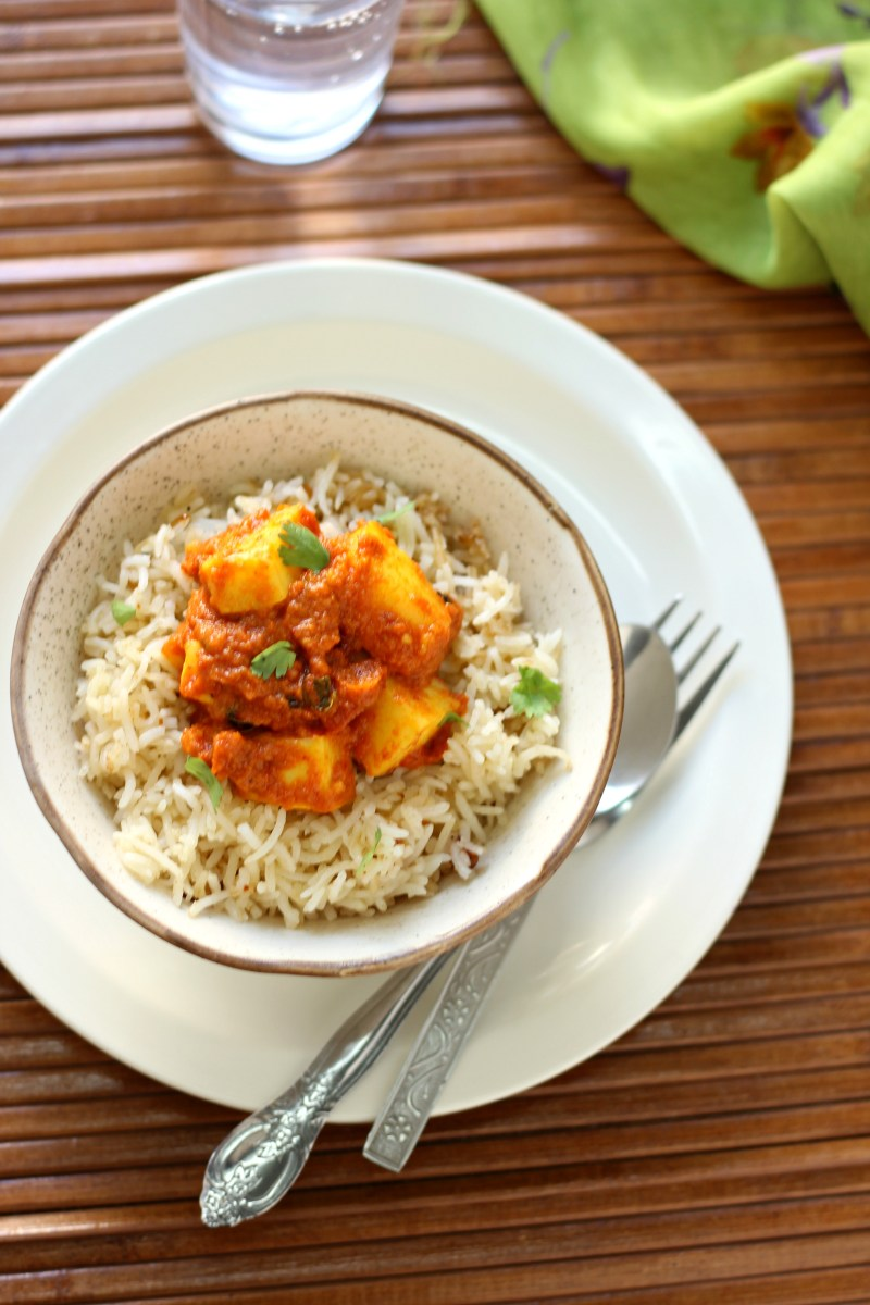 30-minute Paneer rice bowl