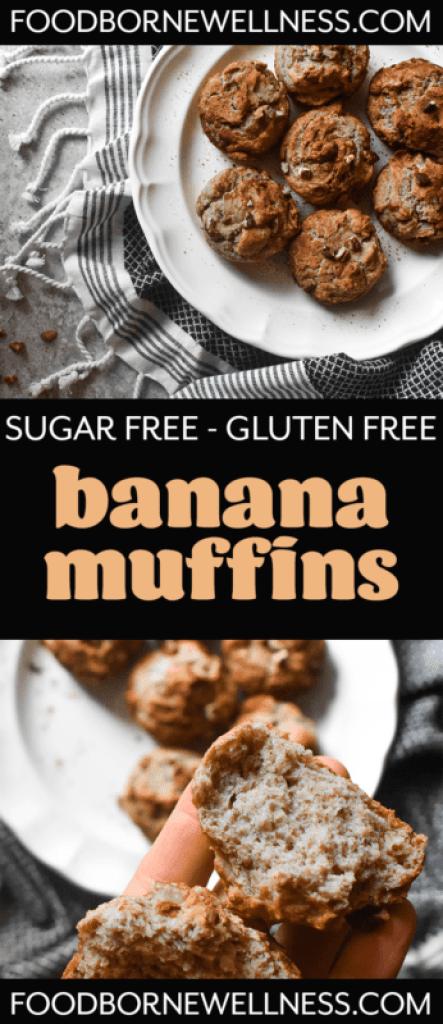 sugar free gluten free banana muffins