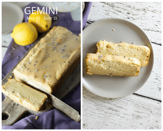 Gemini Birthday Post & Recipe: Lemon & Lavender 'Yogurt' Cake