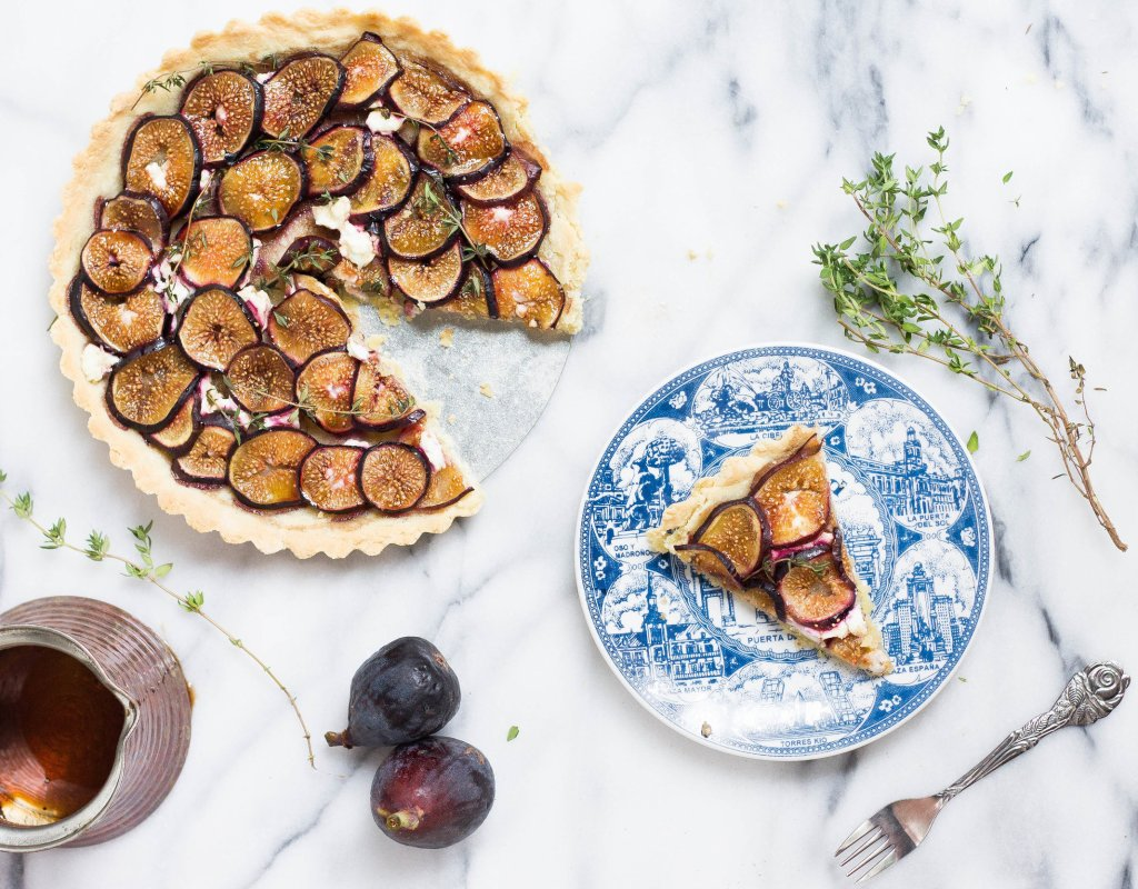 Balsamic Fig & Goat Cheese Tart (Gluten-free & Grain-free)