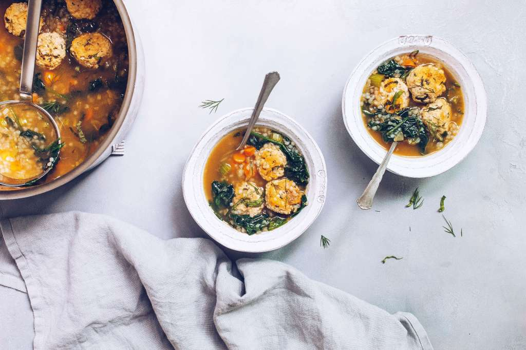 Chicken Florentine Bone Broth Soup (AIP, Paleo) via Food by Mars