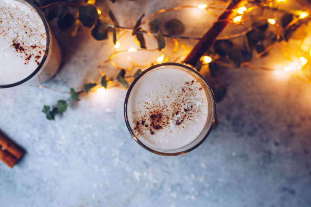 Collagen-boosted Coquito (coconut eggnog) via Food by Mars (dairy-free, paleo, aip-friendly)