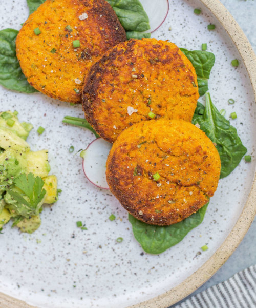 AIP Salmon cakes & guac via Food by Mars