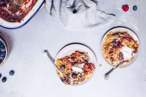 Fruit Crisp (Paleo, AIP, Vegan) via Food by Mars