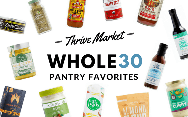 Thrive Market Whole30 Pantry Favorites (save money with Thrive Market Delivery!) via Food by Mars