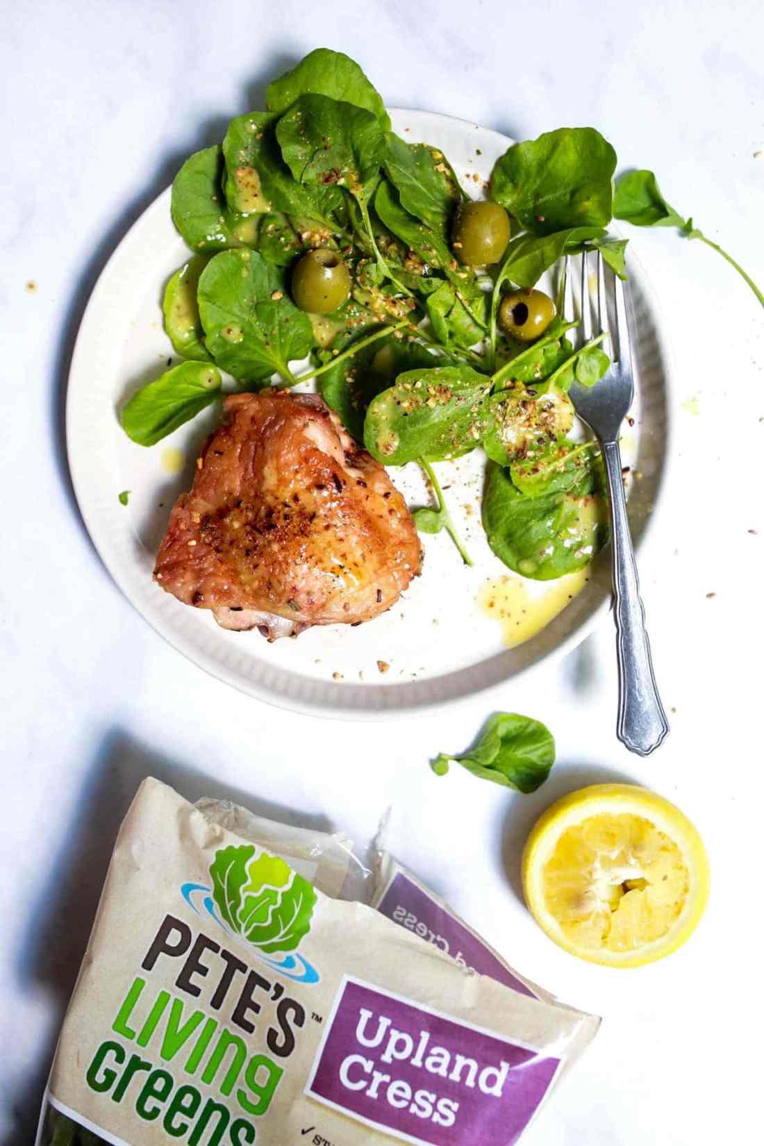 Watercress salad with lemon vinaigrette