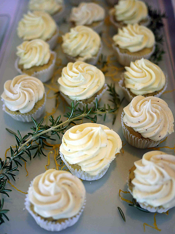 Summer meals: Lemon Rosemary cupcakes from Central City Market