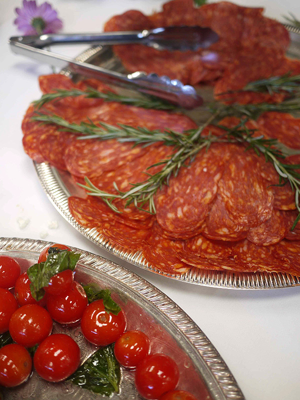 Summer meals: Tomatoes & salami from Trattoria Uliveto
