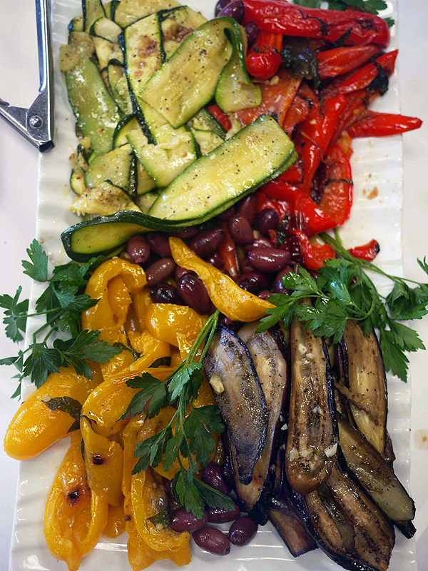 Summer meals: Grilled vegetables from Trattoria Uliveto