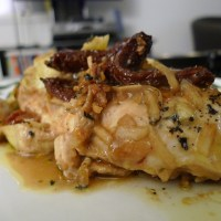 Baked Chicken with Sun-dried Tomatoes and Artichokes