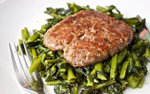 Sausage with rapini keto recipe