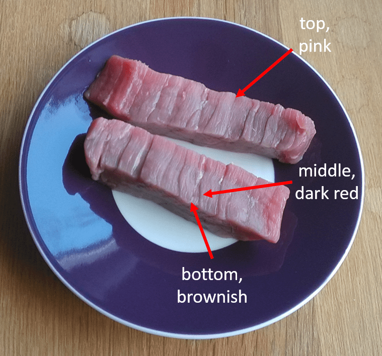 Meat different colours