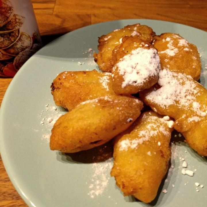 Dutch Food - Apple beignets, Deep fried apple