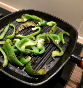 grilling green paprika