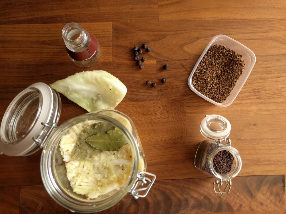 Making sauerkraut – start of my experiment