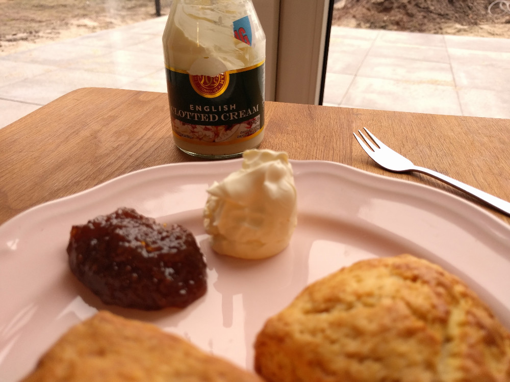 clotted cream and homemade scones