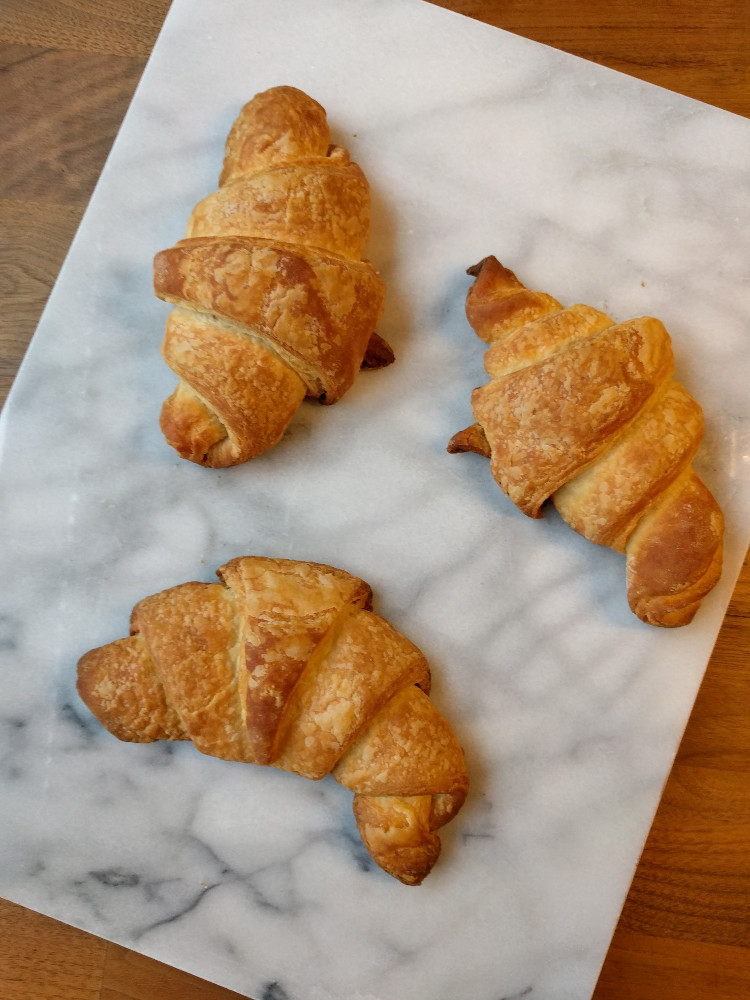 french croissants - freshly baked