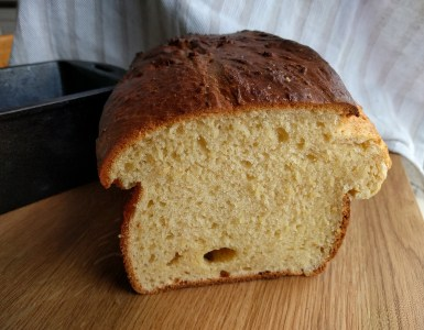 A brioche bread has that fluffy rich texture (see all those small bubbles?) and taste. We discuss the science of brioche breads, what makes it so special?   foodcrumbles.com