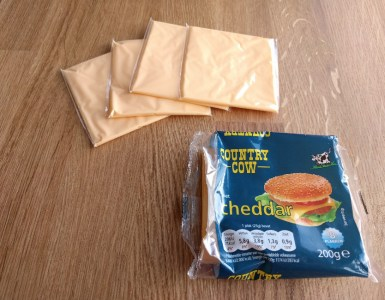 processed cheese slices for cheese burgers