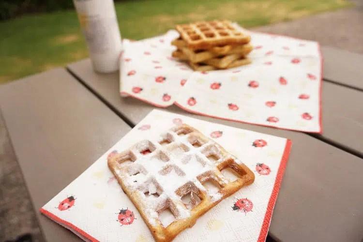 Waffle batter consistency & Orange zest waffles