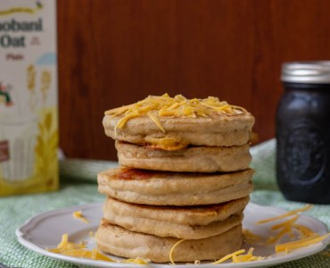 oat milk pancakes with cheese