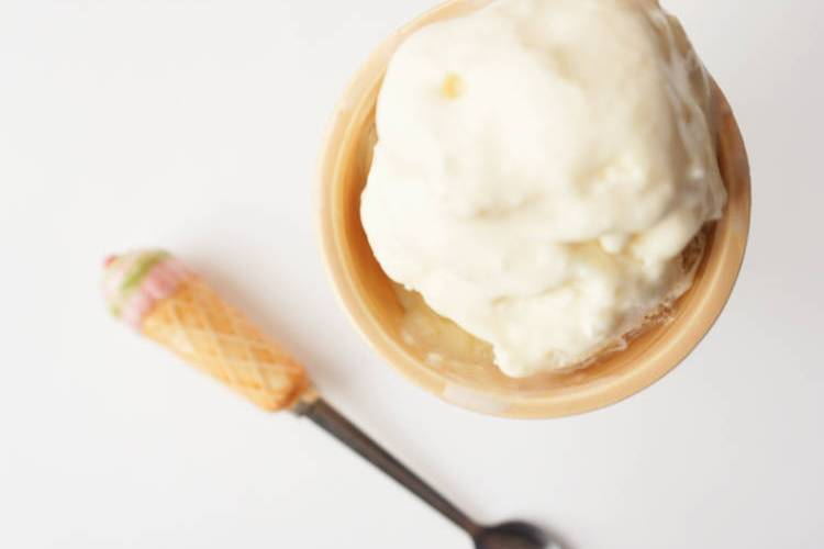 2 ingredient vanilla ice cream - top view
