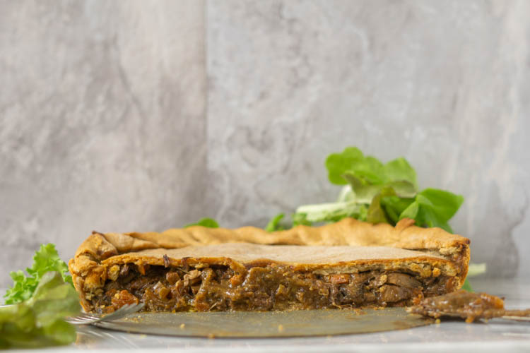 beef pie filling cross section
