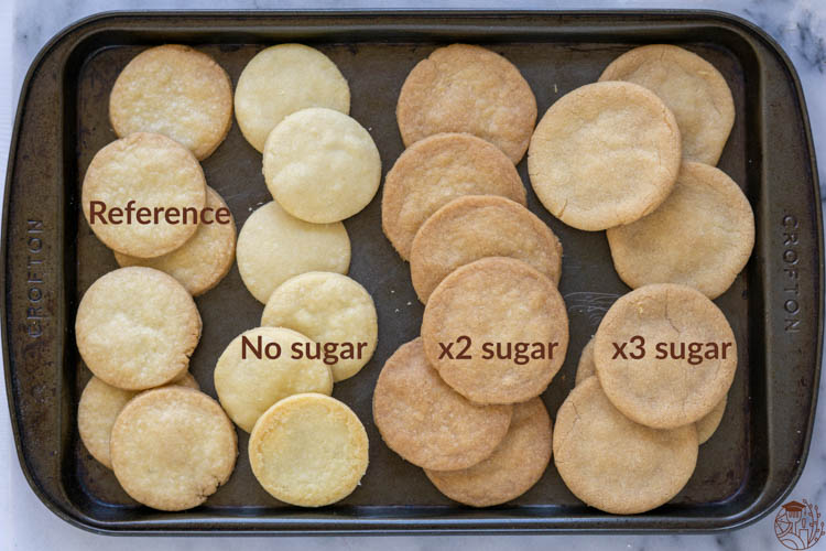 shortbread cookie different sugar content