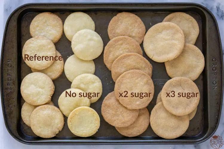 shortbread cookie different sugar content