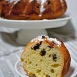 A slice of Kugelhopf a yeast leavened cake