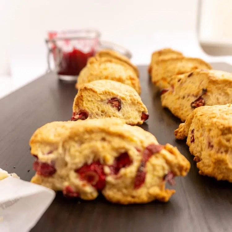 cranberry cheese scones
