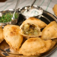 Samosas - filled potatoes & vegetables