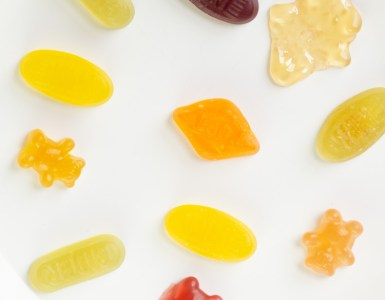 various candies, made with gelatin