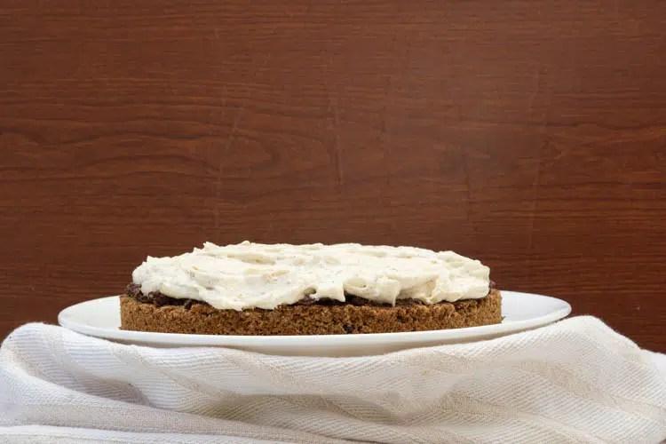 bottom three layers with the cream