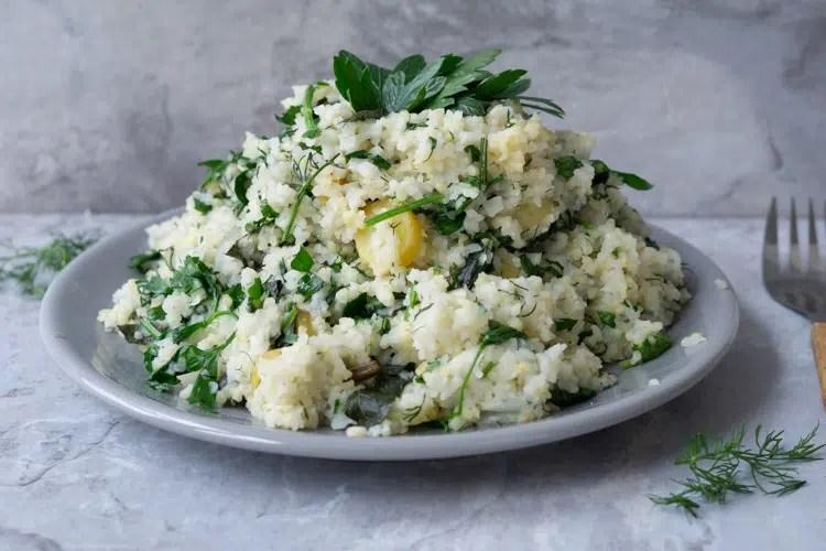 fresh herb rice