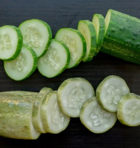 pickled and fresh cucumbers