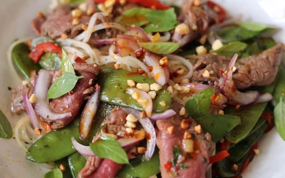 Salade de boeuf thai à ma façon